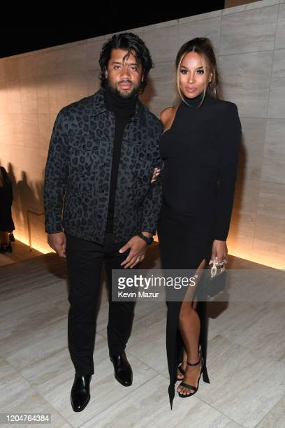 Ciara and Russell Wilson attend the Tom Ford AW20 Show at Milk Studios on February 07 2020 in Hollywood California