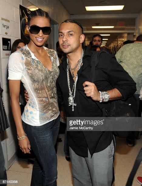 Ciara and Sean Paul attend Z100's Zootopia 2009 presented by IZOD FRAGRANCE at Izod Center on May 16, 2009 in East Rutherford, New Jersey.