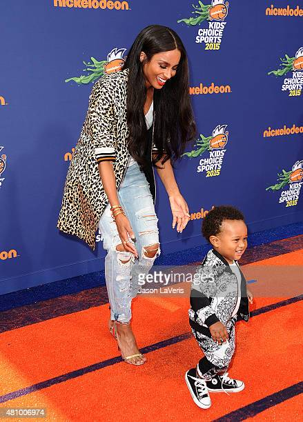 Ciara and son Future Zahir Wilburn attend the Nickelodeon Kids' Choice Sports Awards at UCLA's Pauley Pavilion on July 16 2015 in Westwood California