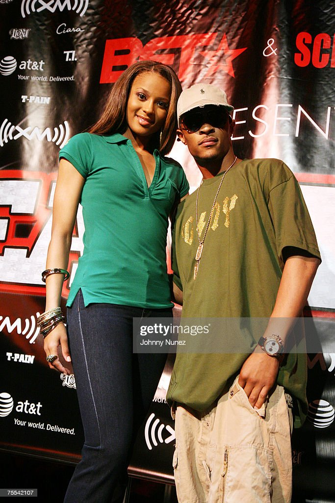 timeless design a5193 94ed0 Ciara and T.I. attend the Screamfest 2007 press conference ...