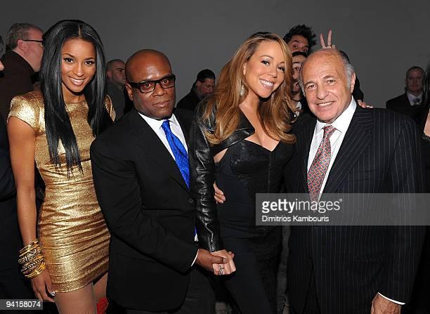 Ciara Antonio 'LA' Reid Mariah Carey and Doug Morris Chairman CEO UMG attend the launch of VEVO the world's premiere destination for premium music...