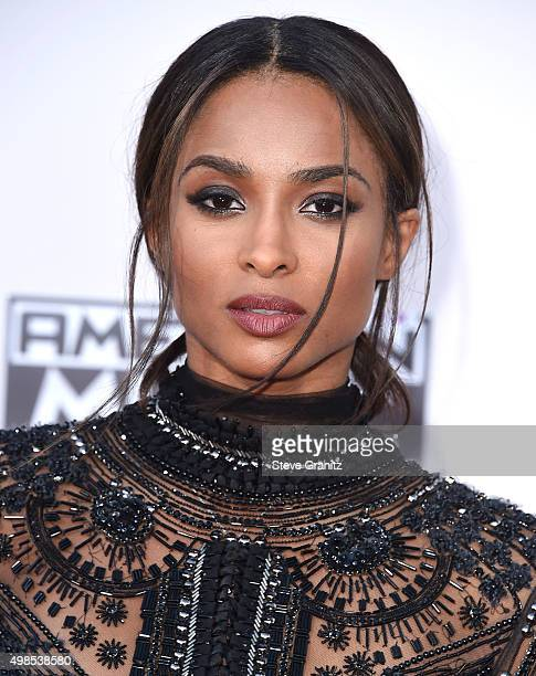 Ciara arrives at the 2015 American Music Awards at Microsoft Theater on November 22 2015 in Los Angeles California