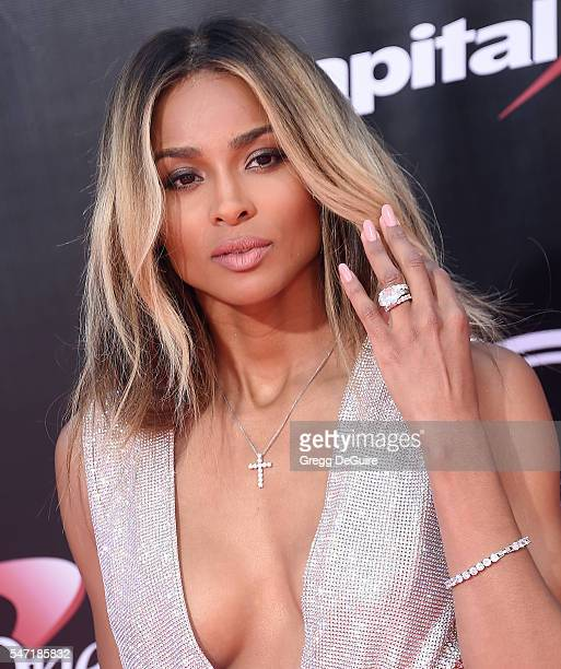 Ciara arrives at The 2016 ESPYS at Microsoft Theater on July 13 2016 in Los Angeles California