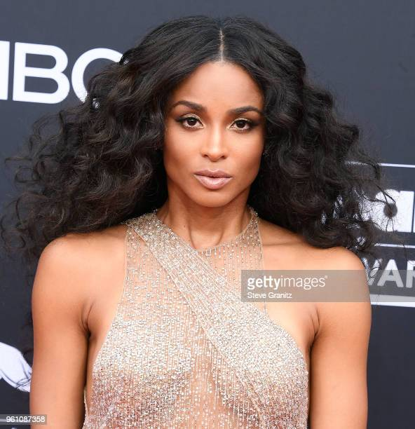 Ciara arrives at the 2018 Billboard Music Awards at MGM Grand Garden Arena on May 20 2018 in Las Vegas Nevada