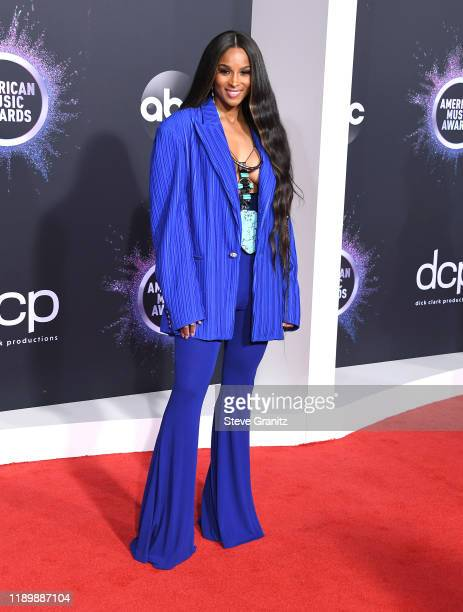 Ciara arrives at the 2019 American Music Awards at Microsoft Theater on November 24 2019 in Los Angeles California