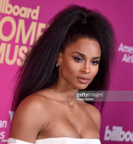 Ciara arrives at the Billboard Women In Music 2017 at The Ray Dolby Ballroom at Hollywood Highland Center on November 30 2017 in Hollywood California