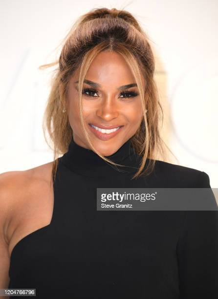 Ciara arrives at the Tom Ford AW20 Show at Milk Studios on February 07, 2020 in Hollywood, California.
