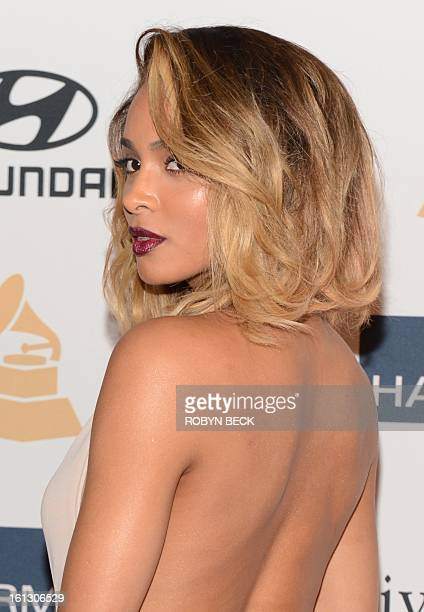 Ciara arrives for the Clive Davis The Recording Academy's 2013 PreGrammy Gala And Salute To Industry Icons in Beverly Hills California February 9...