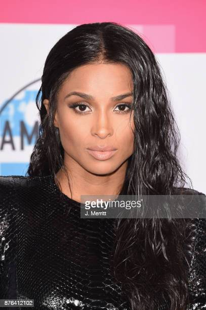 Ciara attends 2017 American Music Awards at Microsoft Theater on November 19 2017 in Los Angeles California