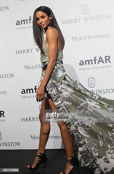 Ciara attends amfAR Milano 2015 at La Permanente on September 26 2015 in Milan Italy