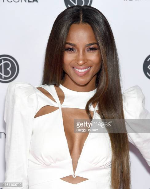 Ciara attends Beautycon Los Angeles 2019 Day 2 Pink Carpet at Los Angeles Convention Center on August 11 2019 in Los Angeles California