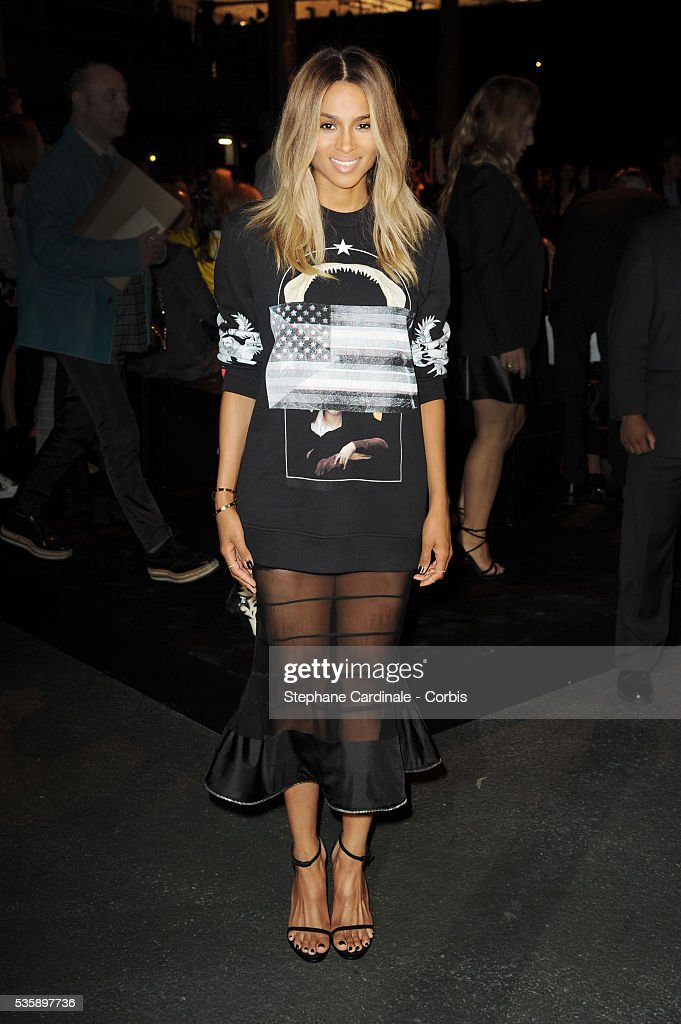 Ciara attends Givenchy show, as part of the Paris Fashion Week Womenswear Spring/Summer 2014, in Paris.