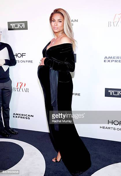 Ciara attends Harper's BAZAAR celebration of the 150 Most Fashionable Women presented by TUMI in partnership with American Express La Perla and...