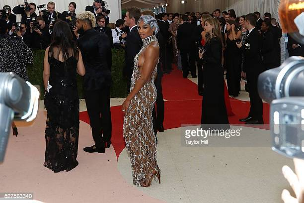 Ciara attends Manus x Machina Fashion in an Age of Technology the 2016 Costume Institute Gala at the Metropolitan Museum of Art on May 02 2016 in New...