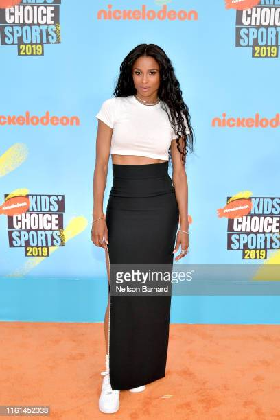 Ciara attends Nickelodeon Kids' Choice Sports 2019 at Barker Hangar on July 11 2019 in Santa Monica California