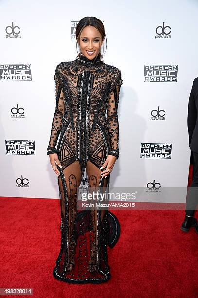 Ciara attends the 2015 American Music Awards at Microsoft Theater on November 22 2015 in Los Angeles California