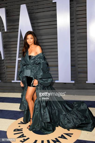 Ciara attends the 2018 Vanity Fair Oscar Party hosted by Radhika Jones at the Wallis Annenberg Center for the Performing Arts on March 4 2018 in...
