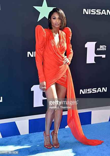 Ciara attends the 2019 BET Awards at Microsoft Theater on June 23 2019 in Los Angeles California