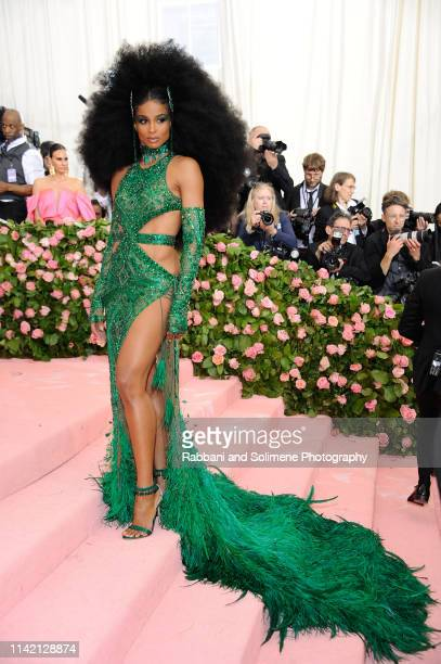 Ciara attends The 2019 Met Gala Celebrating Camp Notes On Fashion Arrivals at The Metropolitan Museum of Art on May 6 2019 in New York City