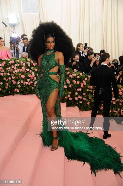 Ciara attends The 2019 Met Gala Celebrating Camp Notes On Fashion Arrivalsat The Metropolitan Museum of Art on May 6 2019 in New York City