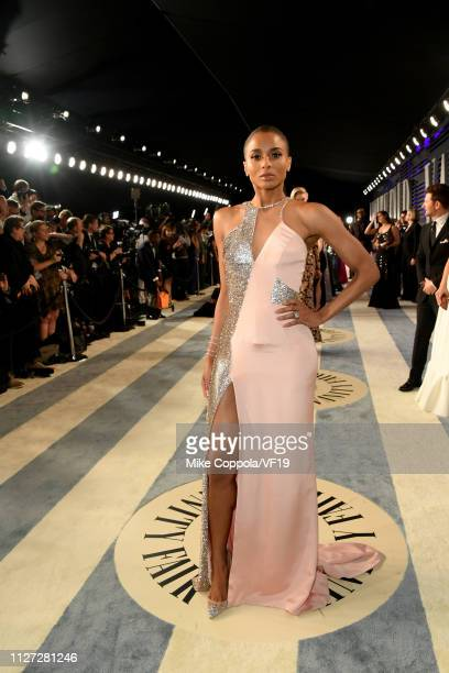 Ciara attends the 2019 Vanity Fair Oscar Party hosted by Radhika Jones at Wallis Annenberg Center for the Performing Arts on February 24 2019 in...