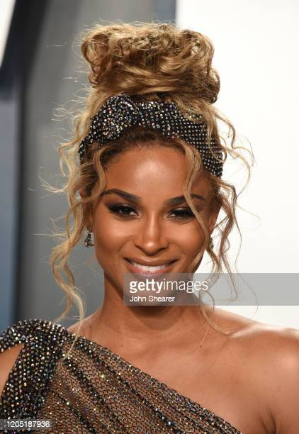 Ciara attends the 2020 Vanity Fair Oscar Party hosted by Radhika Jones at Wallis Annenberg Center for the Performing Arts on February 09, 2020 in...