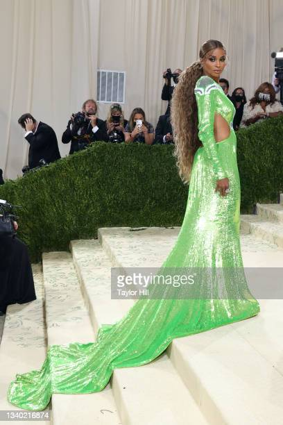 """Ciara attends the 2021 Met Gala benefit """"In America: A Lexicon of Fashion"""" at Metropolitan Museum of Art on September 13, 2021 in New York City."""