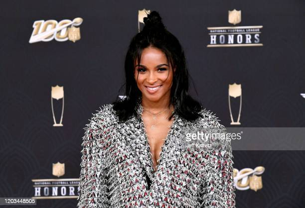 Ciara attends the 9th Annual NFL Honors at Adrienne Arsht Center on February 01 2020 in Miami Florida