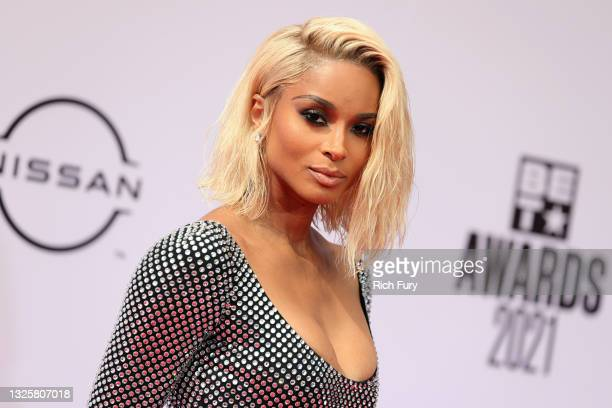 Ciara attends the BET Awards 2021 at Microsoft Theater on June 27, 2021 in Los Angeles, California.