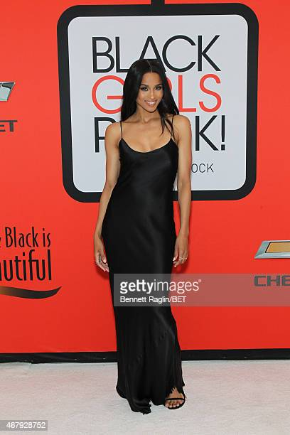 Ciara attends the BET's Black Girls Rock Red Carpet sponsored by Chevrolet at NJPAC – Prudential Hall on March 28 2015 in Newark New Jersey