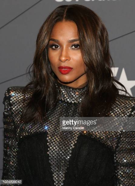 Ciara attends the Black Girls Rock 2018 Red Carpet at New Jersey Performing Arts Center on August 26 2018 in Newark New Jersey