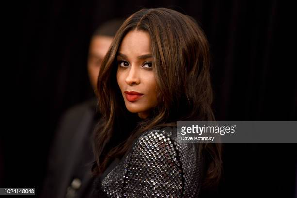Ciara attends the Black Girls Rock 2018 Red Carpet at NJPAC on August 26 2018 in Newark New Jersey