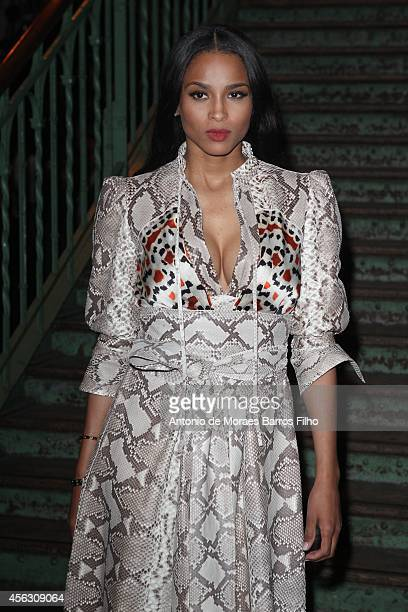 Ciara attends the Givenchy show as part of the Paris Fashion Week Womenswear Spring/Summer 2015 on September 28, 2014 in Paris, France.