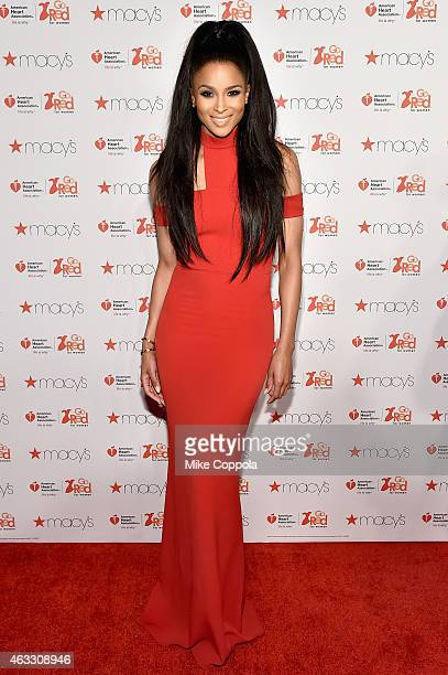 Ciara attends the Go Red For Women Red Dress Collection 2015 presented by Macy'sfashion show during MercedesBenz Fashion Week Fall 2015 at Lincoln...