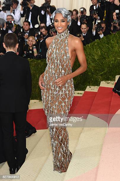Ciara attends the 'Manus x Machina Fashion In An Age Of Technology' Costume Institute Gala at Metropolitan Museum of Art on May 2 2016 in New York...