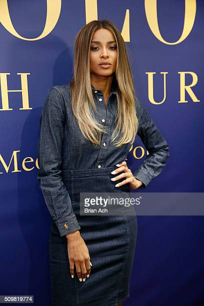 Ciara attends the Polo Ralph Lauren Fall 2016 during New York Fashion Week on February 12 2016 in New York City