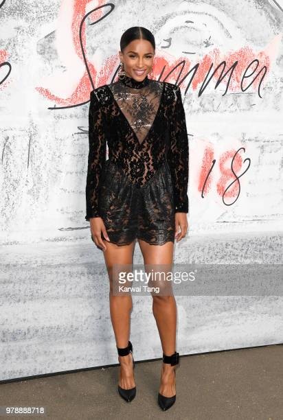 Ciara attends the Serpentine Gallery Summer Party at The Serpentine Gallery on June 19 2018 in London England