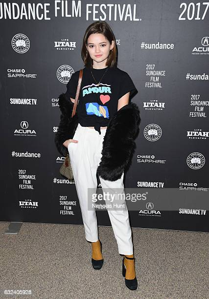 Ciara Bravo attends the 'To The Bone' Premiere on day 4 of the 2017 Sundance Film Festival at Eccles Center Theatre on January 22 2017 in Park City...