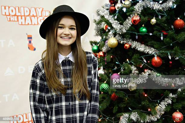Ciara Bravo joins Delta Air Lines and YMCA of Greater New York for the Fourth Annual 'Holiday in the Hangar' a special holiday celebration for PS 154...
