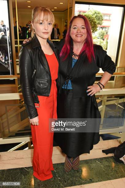 Ciara Charteris and Beatie Edney attend the TRIC Awards 2017 at The Grosvenor House Hotel on March 14 2017 in London England