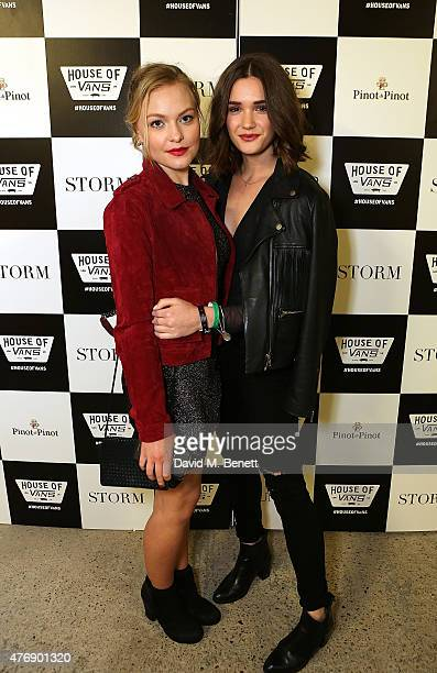 Ciara Charteris and Sai Bennett attend the Storm LCM SS16 Party at House of Vans on June 12 2015 in London England