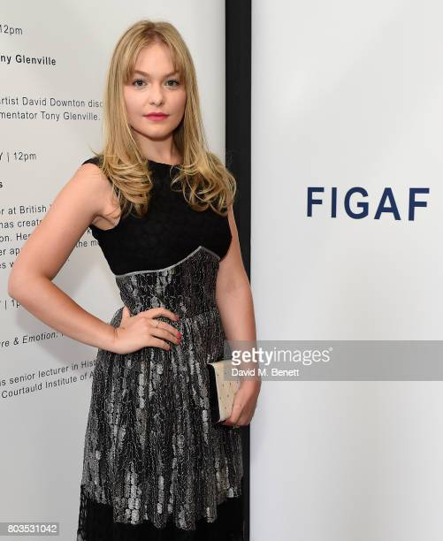 Ciara Charteris attends the Fashion Illustration Gallery Art Fair private view at The Shop at Bluebird cohosted b Lucinda Chambers and Wendy Yu on...