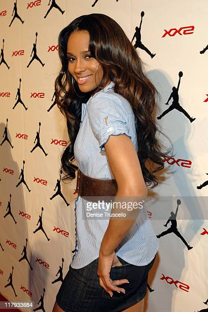 Ciara during 2007 NBA All-Star in Las Vegas - Michael Jordan and All Stars Celebrate The Debut Of The Air Jordan XX2 at Area XX2 at MGM Grand Hotel...