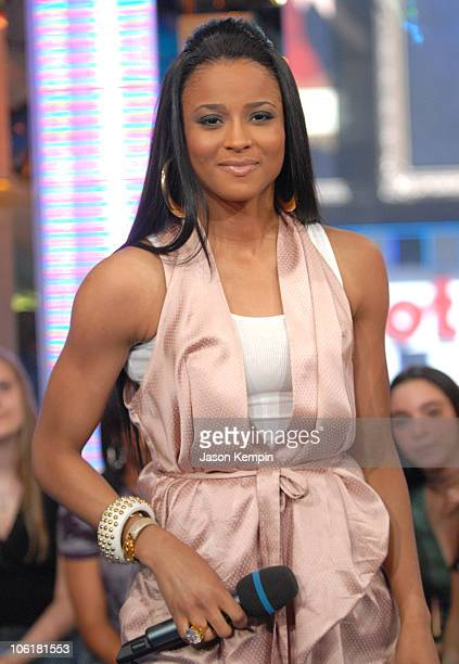 Ciara during Cameron Diaz Ciara Rihanna and Mims Visit MTV's TRL May 8 2007 at MTV Studios in New York City New York United States