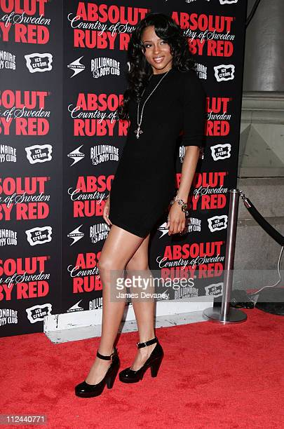Ciara during Pharrell Williams and Absolut Ruby Red Host Pre VMA Party Outside Arrivals at Chinatown Brasserie in New York City New York United States
