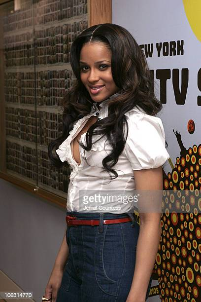 """Ciara during Queen Latifah Visits and Ciara Hosts MTV's """"TRL"""" - March 5, 2007 at MTV Studios in New York City, New York City, United States."""