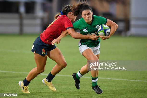 Ciara Griffin of Ireland in action during the Rugby World Cup 2021 Europe Qualifying match between Spain and Ireland at Stadio Sergio Lanfranchi on...