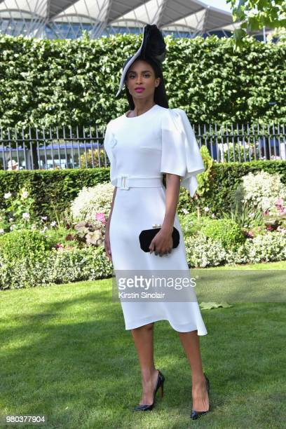 Ciara Harris attends day 3 of Royal Ascot at Ascot Racecourse on June 21 2018 in Ascot England