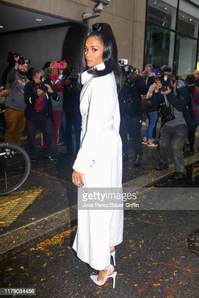Ciara is seen arriving at 'Today' show on October 30, 2019 in New York City.