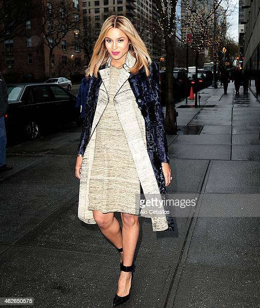 Ciara is seen leaving ABC studios on January 14, 2014 in New York City.